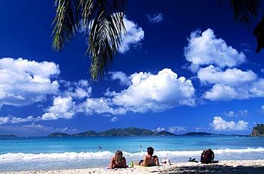 Couple at Smuggler's Cove on Tortola Island, British Virgin Islands, Caribbean