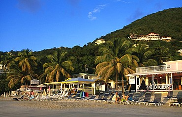 Rhymers Hotel at Cane Garden Bay on Tortola Island, British Virgin Islands, Caribbean