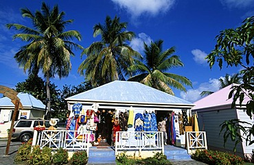 Colourful shop in Roadtown on Tortola Island, British Virgin Islands, Caribbean