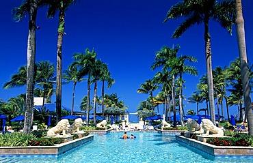 Pool, Ritz Carlton Hotel in San Juan, Puerto Rico, Caribbean