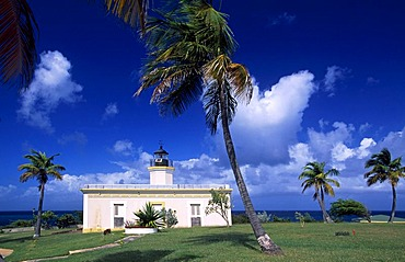 Lighthouse, Faro de Puntas Mulas, Vieques Island, Puerto Rico, Caribbean