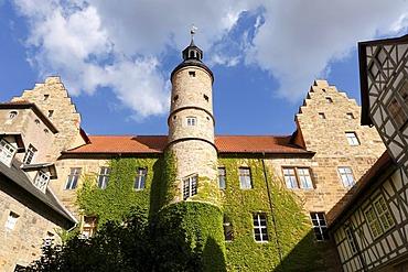 Gluecksburg Palace in Roemhild, Gleichberge, Grabfeld, Thuringia, Germany, Europe