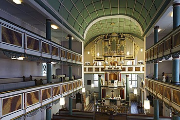 Interior of the Reformed Church in Dermbach, Rhoen, Thuringia, Germany, Europe