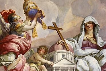 Frescos by Johann Michael Rottmayr, cupola frescos, St. Charles Borromeo Church, Vienna, Austria, Europe