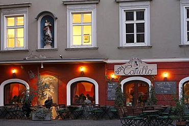 Pizzeria Don Camillo on Franziskanerplatz, Franciscan Square, historic city centre of Graz, Styria, Austria, Europe