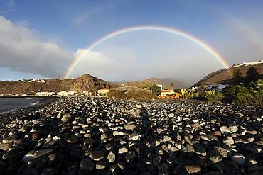 Rainbow in Playa de Santiago, La Gomera, Canary Islands, Spain, Europe
