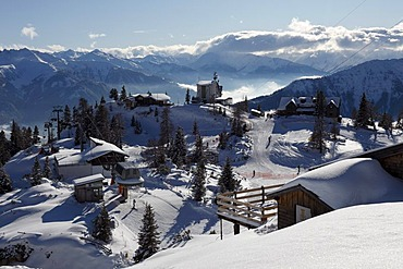 Rofan skiing area, Rofan Range, Tyrol, Austria, Europe