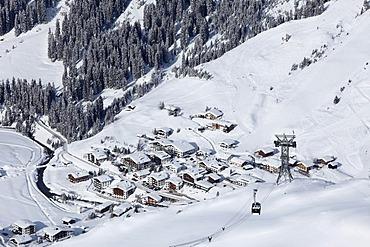 Lech, Ruefikopfbahn cable car, Vorarlberg, Austria, Europe
