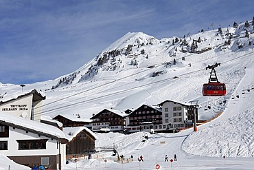 Zuers skiing area, Trittkopfbahn cable car, Vorarlberg, Austria