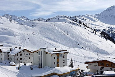 St. Christoph skiing area at Mt Arlberg, Tyrol, Austria
