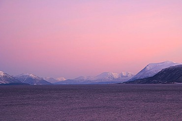 Grottsundet, Grott Sound, polar night, winter, Tromso, Troms, Norway