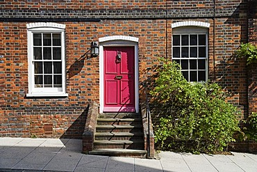 Brick house facade, Arundel, Sussex, Great Britain, Europe