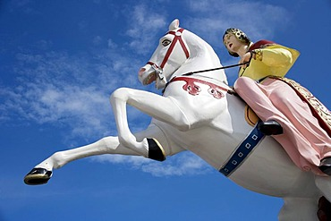 Figure of a fairy tale character on the pier in Brighton, Sussex, Great Britain, Europe