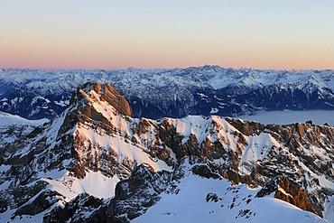Mt Altmann, 2436 m, second highest mountain of the Alpstein Alps, Canton of Appenzell Innerrhoden, Switzerland, Europe