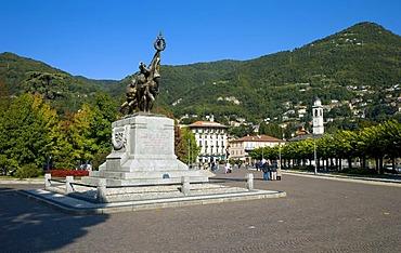 Monumento ai Caduti Memorial, Cernobbio, Como province, Lake Como, Italy, Europe