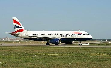British Airways Airbus at Frankfurt Airport, Frankfurt, Hesse, Germany, Europe