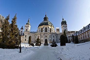 Baroque Ettal Benedectine Monastery, Ettal, Graswangtal Valley, Bavaria, Germany, Europe
