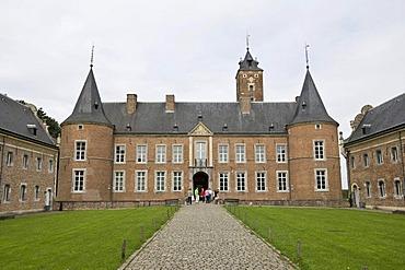Alden Biesen Castle in the Bilzen district of Rijkhoven, former commandry of the Teutonic Order, Province of Limburg, Belgium, Europe