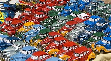 Die-cast miniture vintage cars, Trinidad, Sancti Spiritus province, Cuba, Latin America, America