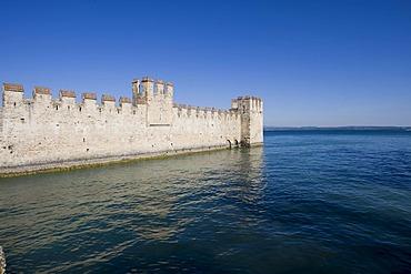 Scaligero Castle, Sirmione, Lake Garda, Lago di Garda, Lombardy, Italy, Europe