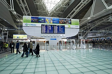 Porto Airport, display panel in the departure hall, Porto, Portugal, Europe