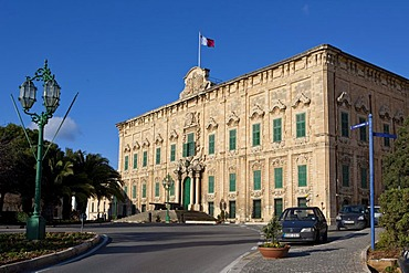 Auberge de Castille, seat of the prime minister of Malta, Valletta, Malta, Europe
