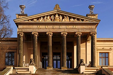 Schwerin Museum against blue sky, Schwerin, Mecklenburg Western-Pomerania, Germany, Europe
