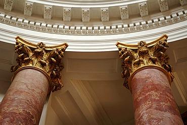 Corinthian columns in the St. Elisabeth Church, Nuremberg, Middle Franconia, Bavaria, Germany, Europe