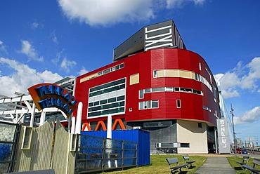 The Luxor Theatre, modern architecture at the Wilhelminapier, Wilhelminaplein, Rijnhaven, Rotterdam, South-Holland, Zuid-Holland, Nederland, The Netherlands
