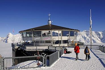 Mt Schilthorn summit station, Piz Gloria, Lauterbrunnen, Bernese Alps, Switzerland, Europe