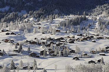 View of Grindelwald, Bernese Alps, Switzerland, Europe