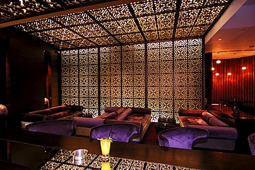 Nightclub in Kempinski Hotel at the Mall of the Emirates in Duabi, United Arab Emirates, UAE, Middle East