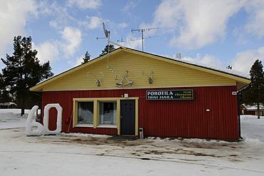 Cafe Porotilla near Partakko, Inari, Finland, Europe