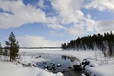 Inari Lake near Partakko, Finland, Europe