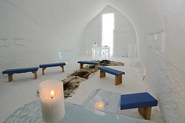 Igloo church, Icehotel Kakslauttanen, Ivalo, Lapland, Finland, Europe