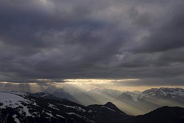 Clouds over Wildschoenau, Tyrol, Austria, Europe