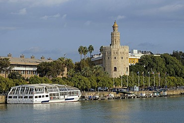 Torre del Oro, Gold Tower, Sevilla, Andalusia, Spain, Europe