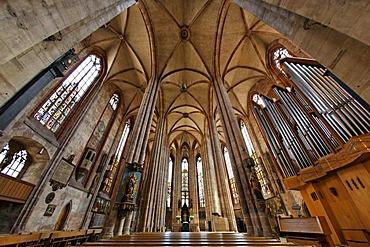 Nave of Sebaldus Church, St. Sebald, historic city centre, Nuremberg, Middle Franconia, Bavaria, Germany, Europe