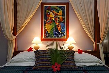 Hotel room, Hamanasi Hotel, Hopkins, Dangria, Belize, Central America, Caribbean