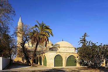 Hala Sultan Tekke Mosque, fourth most important islamic pilgrimage site, Larnaca, Cyprus, Asia