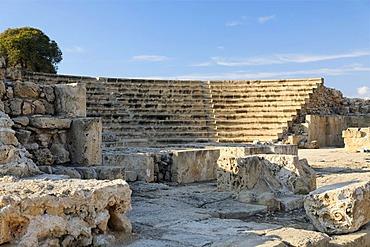 Antique Roman amphitheatre, UNESCO World Heritage Site, Kato, Paphos, Pafos, Cyprus, Europe