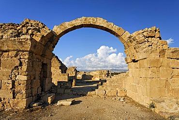 Saranda Kolones fortress, archway, archeology, UNESCO World Heritage Site, Kato, Paphos, Pafos, Cyprus, Europe