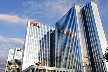 RWI, LBS office buildings in Duesseldorf, North Rhine-Westphalia, Germany, Europe