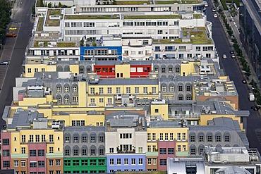 Rows of houses, aerial view, Berlin, Germany, Europe