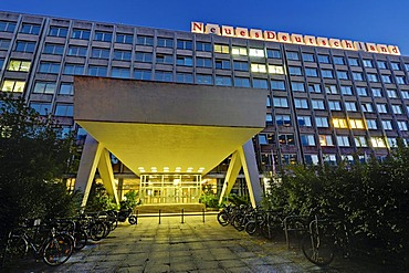 Former publishing house of the ND, Neues Deutschland, new Germany, newspaper of the political party SED, Sozialistische Einheitspartei Deutschlands, Socialist Unity Party of Germany, Berlin, Germany, Europe