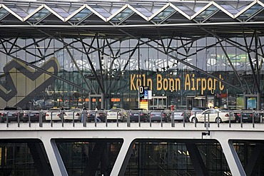 Airport terminal building, Cologne/Bonn Airport, Cologne, North Rhine-Westphalia, Germany