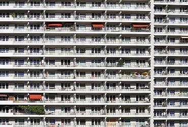 Facade, high-rise residential building, Komplex Leipziger Strasse, Leipziger Street complex, Berlin-Mitte, Berlin, Germany, Europe