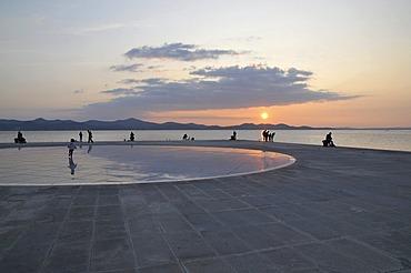 Sunset, Greeting to the Sun, Zadar, Croatia, Europe