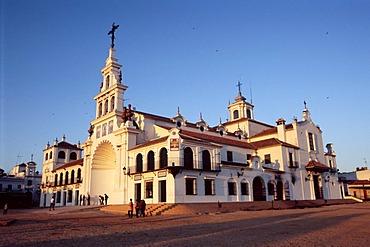 Pilgrimage church in El Rocio, Andalusia, Spain, Europe