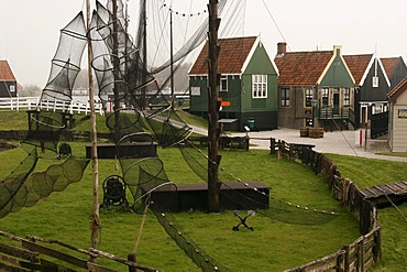Buiten museum of the Zuidersee-Museum, an open-air museum on Lake Ijssel in Enkhuizen, Netherlands, Europe